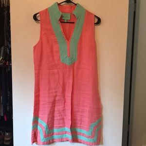 Sail to Sable pink and teal classic tunic